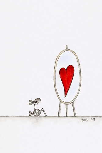 V zrcalu vidim ljubezen
