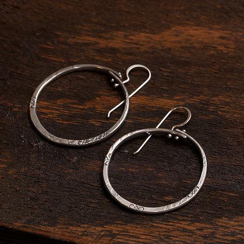 Birsa Earrings in Silver