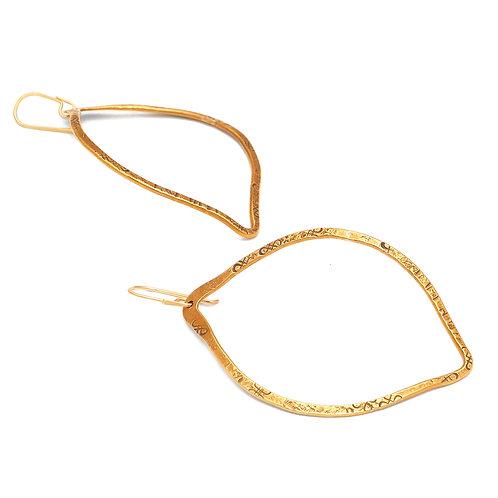 Neem Earrings in Brass