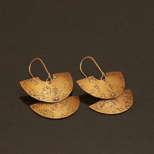 Santhi Earrings in Brass