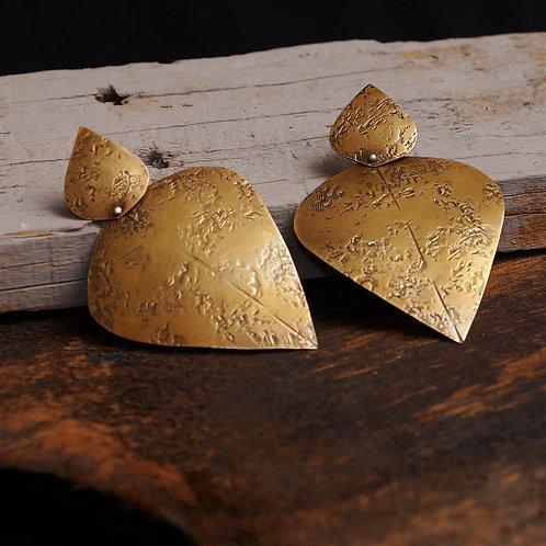 Samarra Earrings in Brass