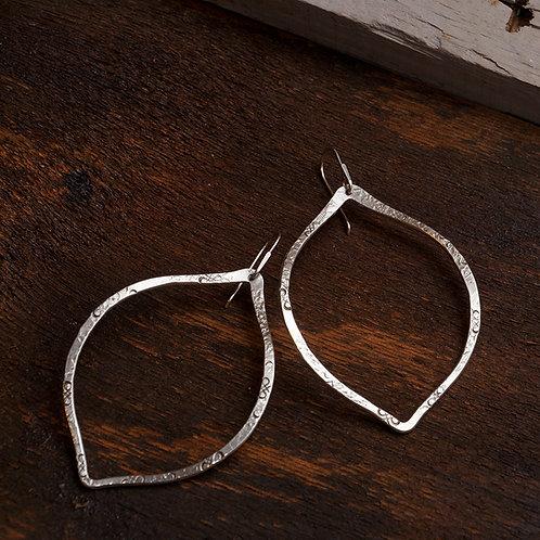 Neem Earrings in Silver