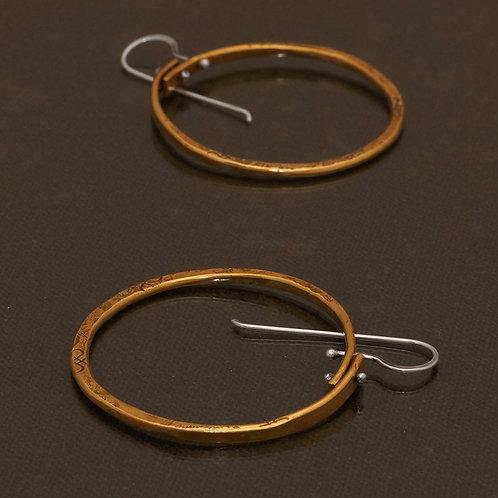 Birsa Earrings in Brass