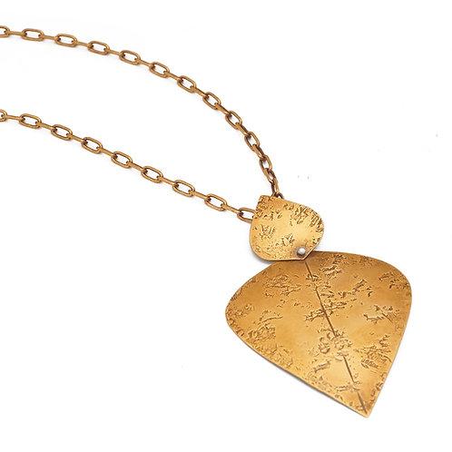 Samarra Necklace in Brass