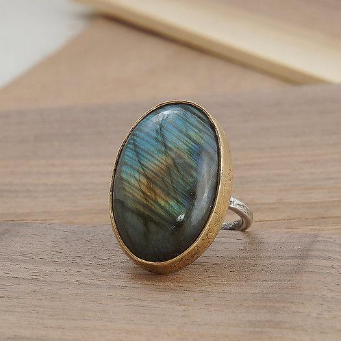 Labradorite Ring, 28mm