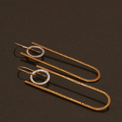 Petra Earrings in Brass