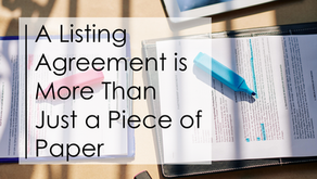 A Listing Agreement is More Than Just a Piece of Paper