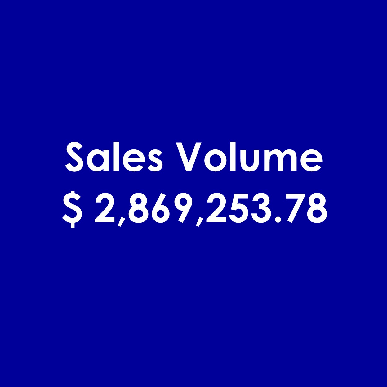 The Wynn Group's Sales Volume