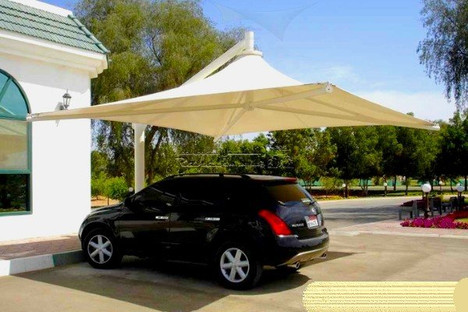 Weofferpremium quality single pole parking shade. single pole parking shade is required for providing shade to vehicles by occupying very less area. Wholeparking shadeis supported by a single pole. Any mistake in the pole the whole shade will fall down.