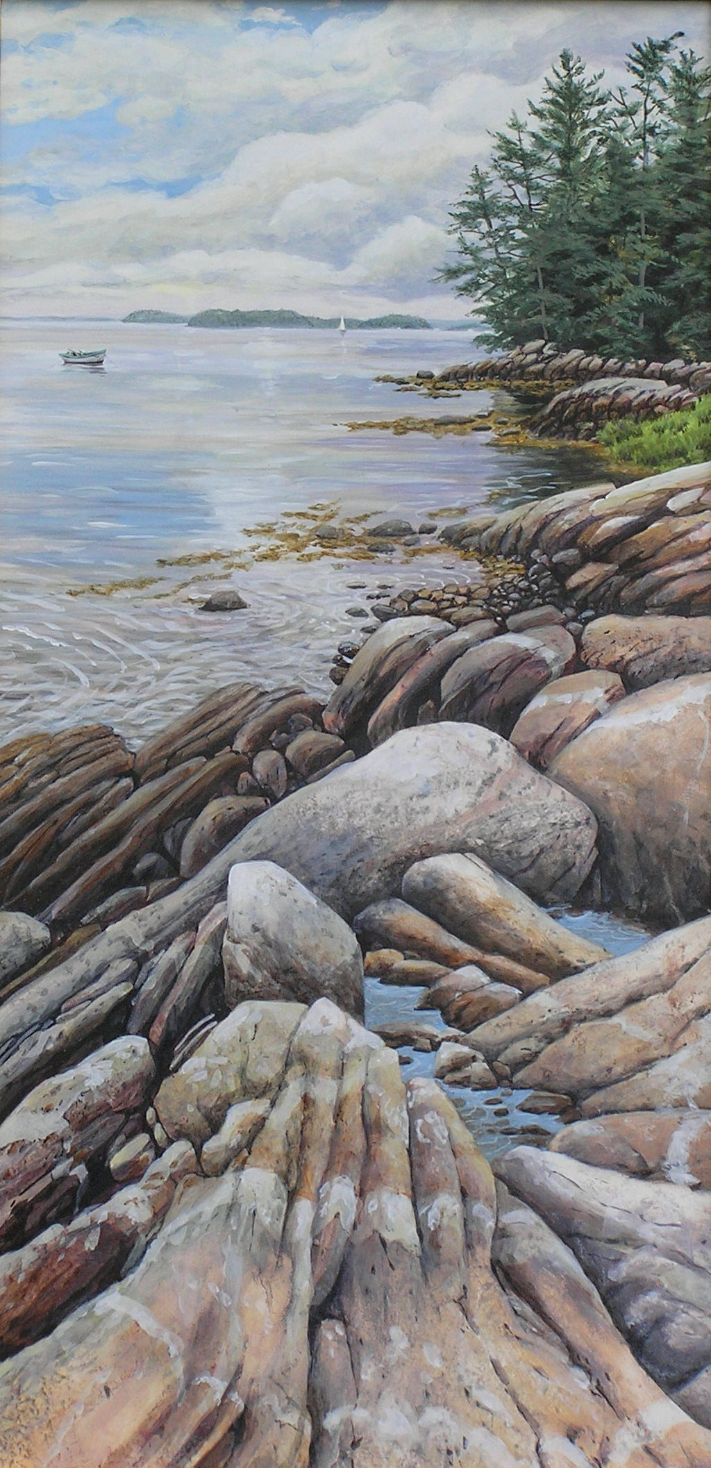 Afternoon calm 12 x 24 egg tempera