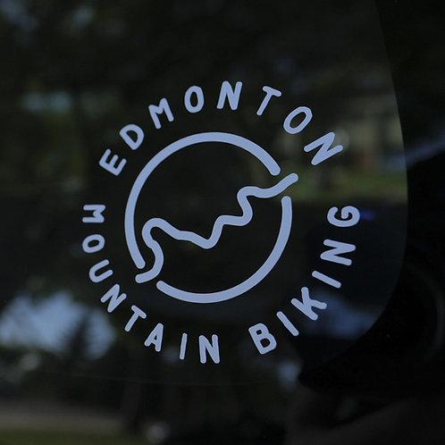 Edmonton Mountain Biking Die-Cut Sticker
