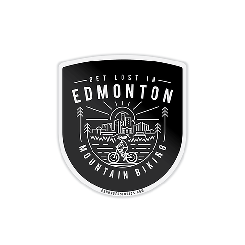 Get Lost In Edmonton MTB Sticker