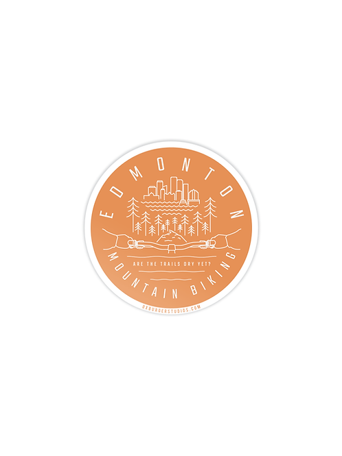 Edmonton Mountain Biking Sticker