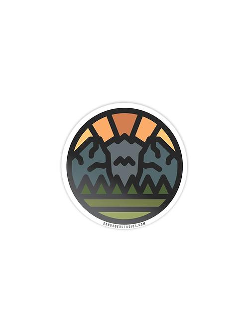 Valley Sunrise Sticker