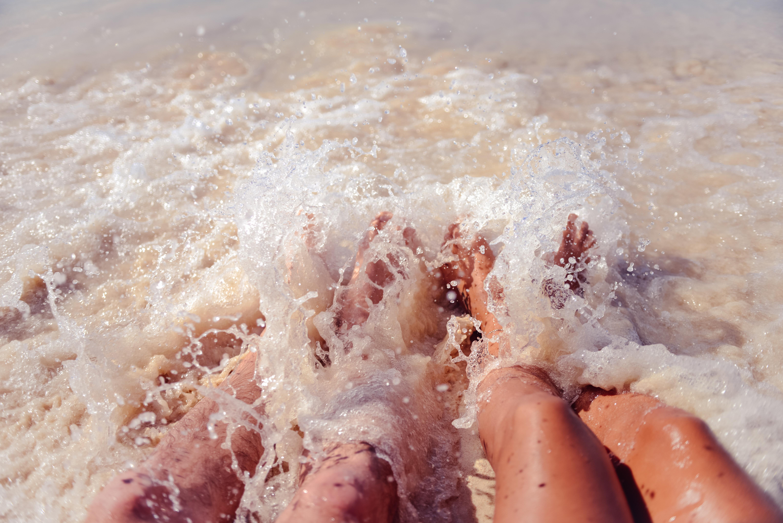 Marche aquatique en mer