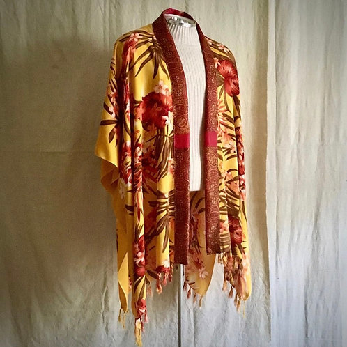 Yellow and Red Tropical Robe