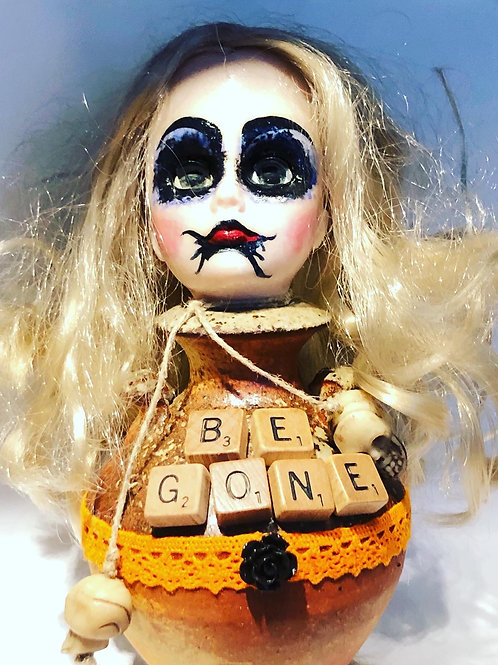 Be Gone Assemblage Art