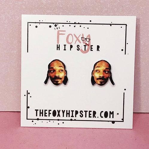 Snoop Dog Stud Earrings