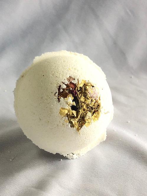 Wildflower Honey Rose Milk Bomb with Jasmine& Rose Petals