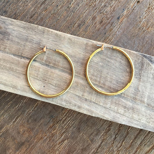Brass Quarter Hoops