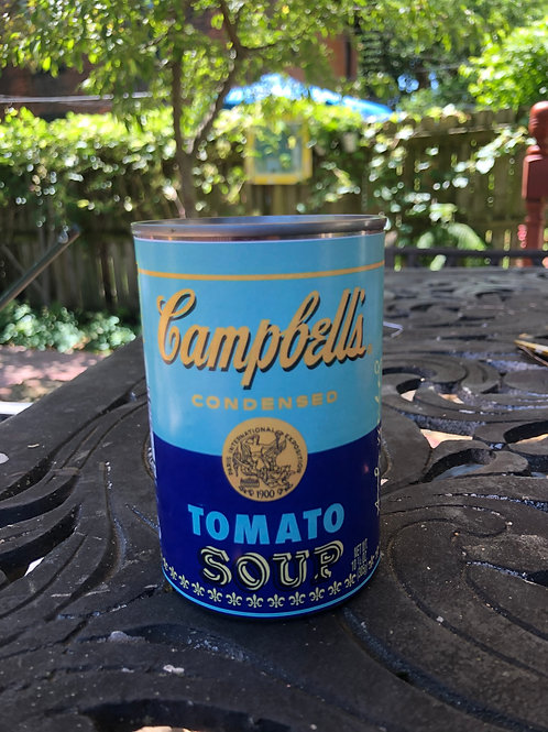 Upcycled Campbell's Soup Soy Candle