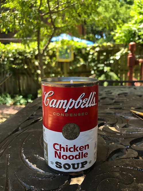 Upcycled Campbell's Soup Soy Candle-Chicken Noodle