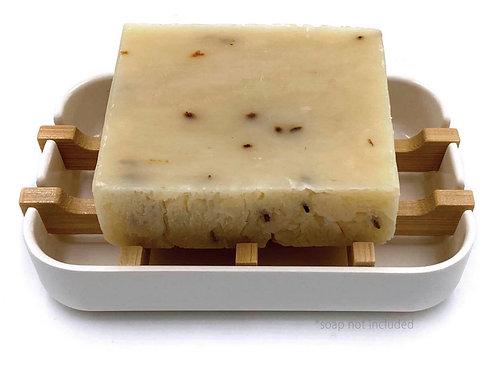 100 Percent Plant Based Bamboo Soap Dish- White