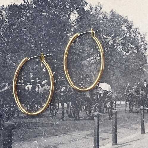 Gold Plated Vintage Dead Stock Hoops