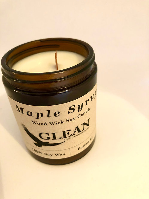 Maple Syrup Wood Wick Candle