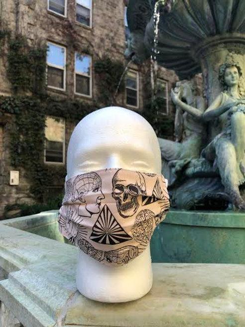 Skulls and Tarot Hands Mask