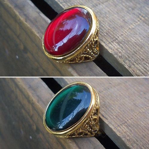 Green or Red Resin Ring