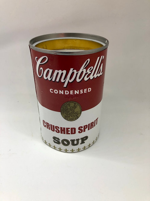Up-cycled Campbell's Soup Can Soy Candle - Crushed Spirit