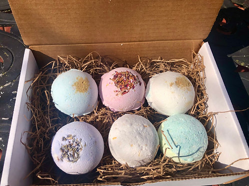6 Pack of Spring Bath Bombs