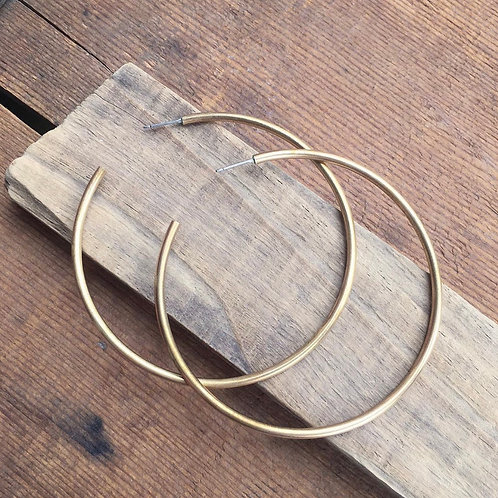 XL Brass Hoops
