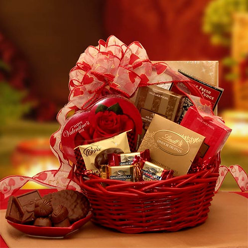 Chocolate Inspirations Valentine Basket 8161592