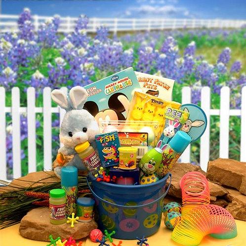 Little Bunny Blue Easter Fun Pail 914231