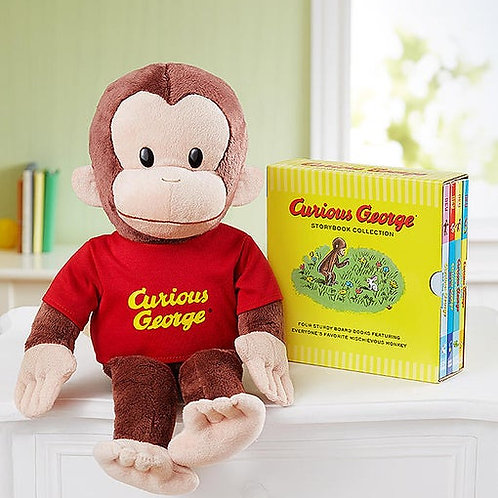 Gund Curious George & Books