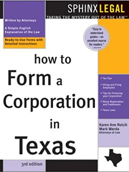 How to Form a Corporation in Texas