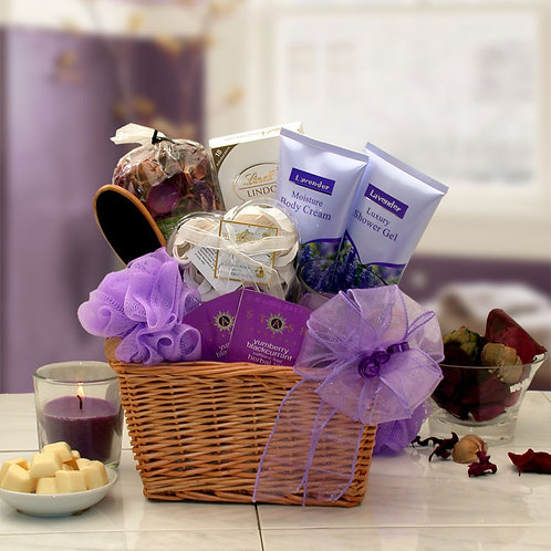 Lavender Relaxation Spa Gift Basket 8413712
