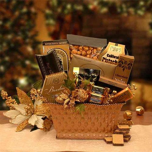 Golden Gatherings Holiday Gift Basket 8161102