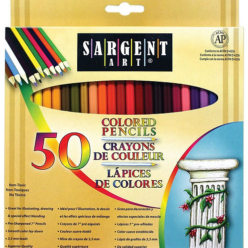 Sargent Art 22-7251 Colored Pencils, Pack of 50