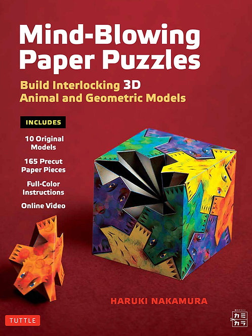 Mind-Blowing Paper Puzzles Kit: Build Interlocking 3D Animal and Geometric Model