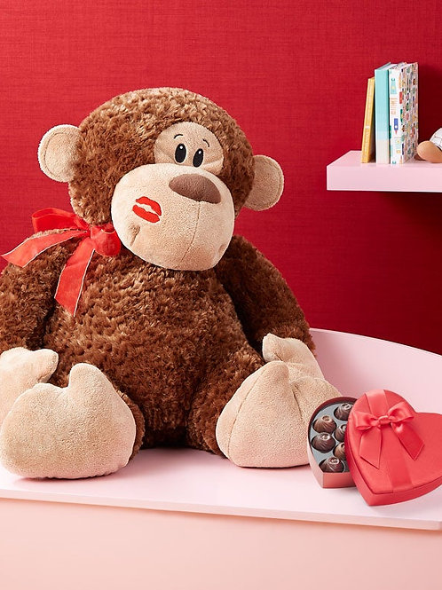 Monkey Love Plush w/Chocolate