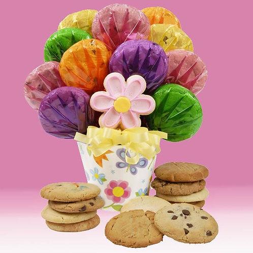 Cookies In Bloom Bouquet CB-HER-POT-FLOWER