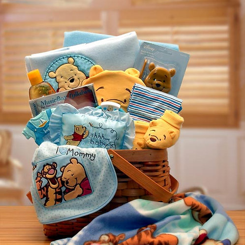 Winnie The Pooh New Baby Basket 890492-Blue