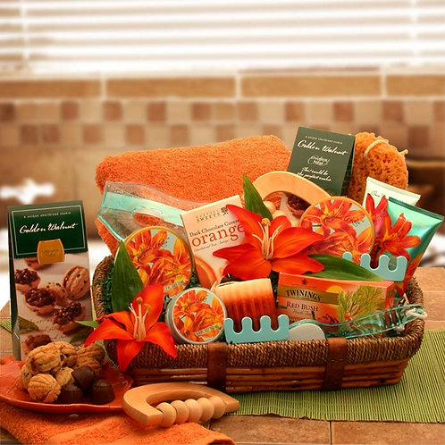 Essential Healing Spa Luxuries Gift Basket 8412411