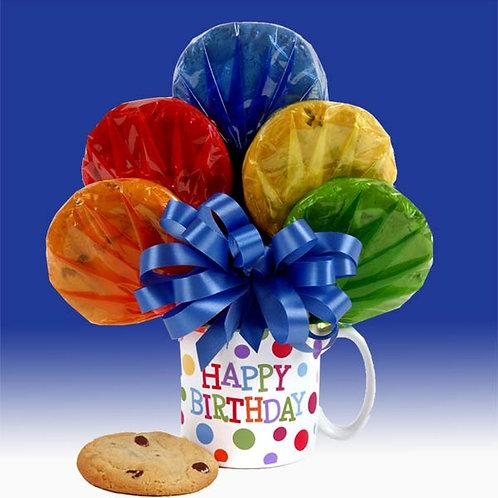 Happy Birthday Cookie Bouquet Mug CB-BIR-MUG-TRAD