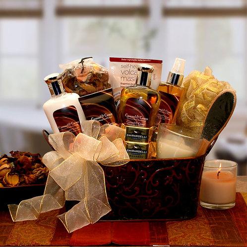 Caramel & Crème Bliss Spa Gift Basket 8413692