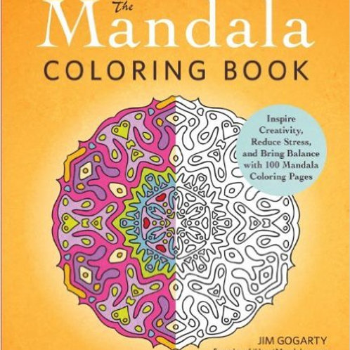 The Mandala Coloring Book: Inspire Creativity, Red