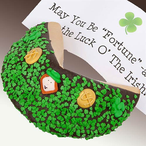 St Patricks Day Giant Fortune Cookie LFTFCH3-2